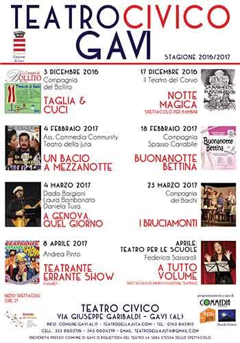 Copia di Parte la stagione 2016/207 al Teatro Civico di Gavi CorriereAl 6